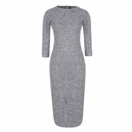 Wholesale-Eliacher Brand Women Dress 2016 Winter Bodycon Dresses Plus Size Womne Clothing Bodycon Sweater Midi Slit Dresses vestidos