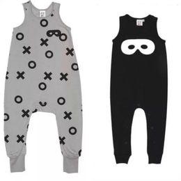 Wholesale 2015 BEAU LOVES baby toddlers kids boy s girl s XO black cat mask vest romper one piece suspender pants rompers