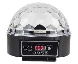 Wholesale 1pcs Effect Light Stage Lighting LED RGB DJ Club Disco Party Crystal Magic Ball Lampfair disco ball lamp