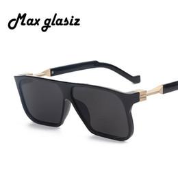 Wholesale-Oversized sunglasses men brand designer retro vintage male sunglasses square gradient sun glasses for men oculos