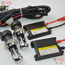 Wholesale 1set W HID Bi Xenon hilo Beams Slim KIT H4 Bi xenon Conversion K bi xenon h4 w h4 bi xenon kit w Bi Xenon Kit