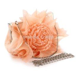 Descuento monederos de las señoras de color beige Al por mayor-caliente 2015 del bolso de tarde de la flor del partido del monedero del bolso Rose boda de la novia del bolso de embrague noche de las mujeres del monedero de las señoras 51336