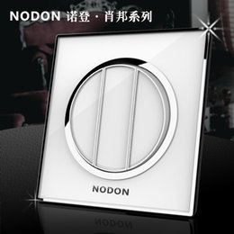 Wholesale Wholesaler gangs way acrylic glass waterproof wall light switch Noden Luxury electrical push button switch