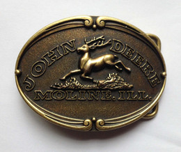 THE BRONZE Color DEERE With Pewter Finish ,belt buckle with pewter finish suitable for 4cm wideth belt with continous stock free shipping