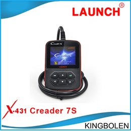 Wholesale 2015 Newly Original Launch X431 Creader S Code Reader Oil Reset Function Multi langauge Original Creader vii plus EPB reset and BAT Tool