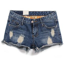 Wholesale Casual Skirt Designs For Women - 2016 New Plus Size Hollow Out Women Jeans Shorts Summer Style Hole Design Denim Shorts for Women Jeans Shorts 26 - 36, CB022