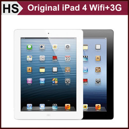 Wholesale Original Apple iPad WIFI G Cellular quot IOS A6X GB GB GB Warranty Included Black White Tablet DHL