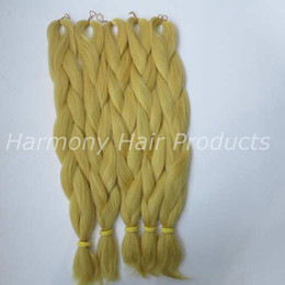 Kanekalon Jumbo braiding hair 24inch Folded 80grams Solid CATKIN YELLOW Color Xpression Synthetic Braids Hair Extension T0755