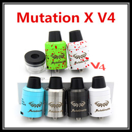 Wholesale Stock Now Mutation X V4 RDA Clone Mod Authentic Replica Mechanical Tank Atomizer Best Selling DIY Ecig Vaporizer Dual Negative Posts