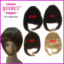 Wholesale Human hair bangs for women with clips Indian Peruvian Malaysian virgin human hair fringes quot straight B off Quercy Hair