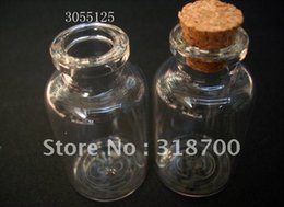(DHL)Free Shipping -25ml glass bottle with wooden cork, sample vial,glass jar