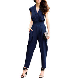 Wholesale women s Jumpsuit overall sexy fashion High waist pants coveralls colors WKL529