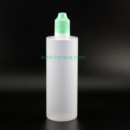 100pcs Lot 120ML LDPE Plastic Dropper Bottles Double Proof Tamper Proof Child Safe Vapor Squeeze bottle with white green black caps