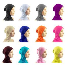 Wholesale FreeShipping Under Scarf Hat Cap Bone Bonnet Hijab Islamic Head Wear Neck Cover Muslim