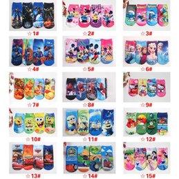 Wholesale frozen ELSA minion Spider Man kids socks Transformers childrens socks Minnie kids socks Christmas gift