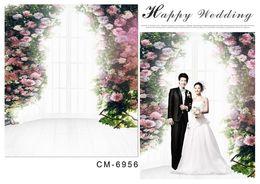 6.5*10FT(200x300CM)Wedding Backgrounds Photography Backdrops Romantic Fonds Fotografia Vinyl Backdrops For Photographic Backdrops cm-6956