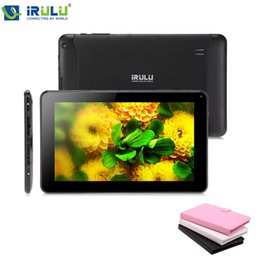 Wholesale iRULU X1 quot Tablet PC Quad Core Android Tablet Dual Cam GB Bluetooth WIFI External G Download Google Play APP W Keyboard