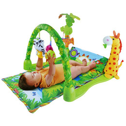 Hot 2015 new music baby play mat kids game blanket fitness rack with toy 0-1 year old girls boys baby game pad
