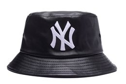 Wholesale NY Yankees Fisherman hat Bucket Hats fishing hat cap many colors cotton hip hop street headwear adjustable baseball caps photo album