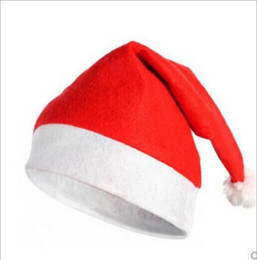 wholesale New Kids gift Christmas Decoration hats High-grade Christmas hat Santa Claus hat Cute adults Christmas Cosplay Hats