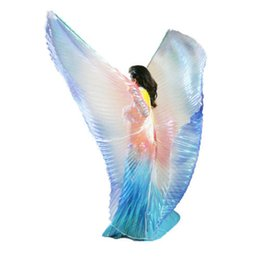 2015 Kids Beautiful Egyptian Egypt Isis Wings Children's Belly Dance Costumes Girls Blue Yellow Red Interval Colors