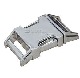 Wholesale 10pcs quot Matel Buckles Contoured Curved for ParaCord Bracelet Dog Collar webbing Backpack Straps Webbing mm