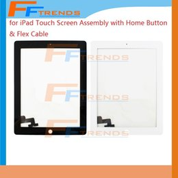Replacement Digitizer Touch Screen Home Button Assembly For iPad 3 iPad 4 iPad 2 High Quality