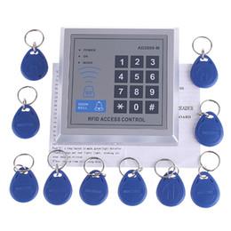 RFID Mot de passe Proximité Entrée Verrouillage de porte Système de contrôle d'accès + 10 porte-clés Tags Pour 500 usagers à partir de clés les mots de passe fabricateur