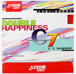 DHS table tennis ball C7 Long Pips-Out Rubber Double happiness LONG PIMPLES pipong rubber