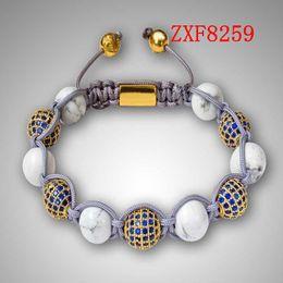 Wholesale momen s shamballa alloy blue dill Strip Weave adjust Natural stone High grad Beads bracelets Nialaya factory new handmade braceletsZXF8259