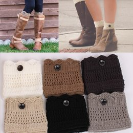 Wholesale New boot socks Crochet leg warmer boot cuffs Knit Ballet Leg Warmers Christmas Boot Socks covers wool socks