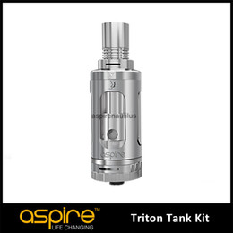 Wholesale - 100% Genuine Aspire Triton Atomizer 3.5ML All New Aspire Triton Tank Pyrex RDA Atomizer 0.4ohm 1.8ohm Triton Vaporizer DHL