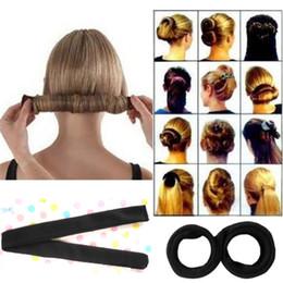 Wholesale Hot Sales Fashion Korean Style Hair Styling Tool Hair Bun Maker T218 Cute Buns Head Maker DIY French Donut