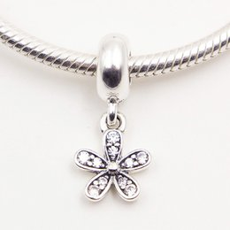 DAISY SILVER PENDANT CHARM DIY Beads Real Solid 925 Sterling Silver Not Plated Fits Original Pandora Bracelets & Bangles & Necklaces
