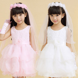 Handmade Girls Hairband With Veil Children Flower Garland Headband Wedding Hair Accessories WHH101