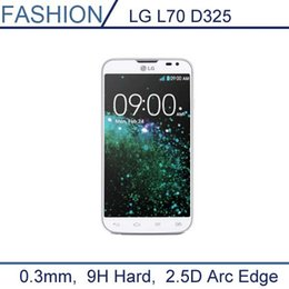 Wholesale mm Premium Tempered Glass for LG L70 D325 Dual SIM Card Version H D Edge Transparent Screen Protector with Clean Tools