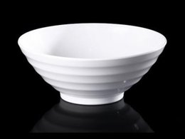 Wholesale Melamine Dinnerware Noodle Bowl Cone Ring Striae Bowl WIth Chain Restaurant A5 Melamine Bowls Melamine Tableware Soup Bowl