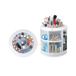 Wholesale MAKARTT Degree Rotating Oragnizer for Jewelry Cosmetics Storage Box White DIY Acrylic Makeup Case L0033