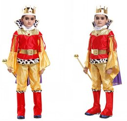 Children King Cosplay Costume Chrismas halloween Prince Charming Party Clothes,Suitale For 3-12 years old kids Free shipping