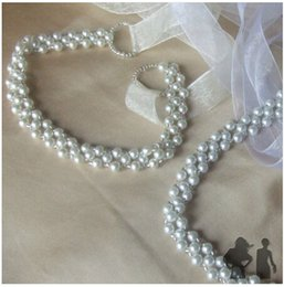 Beaded Wedding Ribbon BELT New Vintage White Bridal Wedding Dress Rhinestone Sash Beaded Pearl Belt
