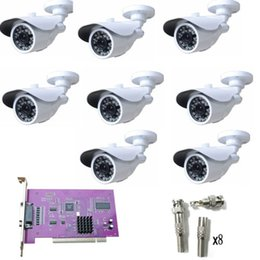 8CH CCTV System 8pcs 480TVL Weatherproof Camera Home Security System Kits NTSC