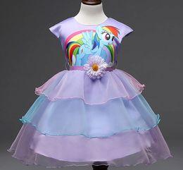 Wholesale 2016 New Years Big Kids Girls Dress fashion Pony Spring Girl Short sleeve Dresses My girls princess Little Pony Costume D166