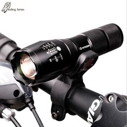 Wholesale Bicycle Headlight Torch Mountain Biking Focusing Light Flashlight LED Rotate The Zoom High Quality Aluminum T6 Flashlight Bike Lights