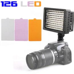 Haute qualité CN-126 Lampe LED Video Light Lighting pour Nikon DSLR Canon éclairage de la caméra de la lumière de la lampe à partir de conduit caméra lumière 126 fournisseurs