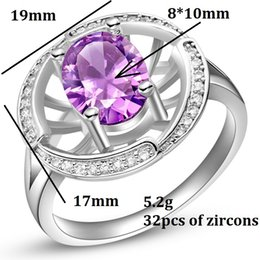 Wholesale 2015 Patines Anniversary Rings Set for Women Round Wedding Ring Unique Jewelry Affordable Accessories Sterling Silver Colors Sizes J434