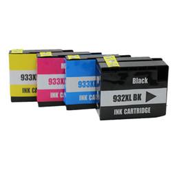 Wholesale 4 cores define cartuchos de tinta compatíveis compatíveis HP932XLBK hp933XL hp932 hp933 hp CN053A A para impressora HP Officejet