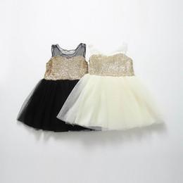 Wholesale New Girl Dress Children Clothes Sequins Gauze Sleeveless Summer Princess Dress 13825