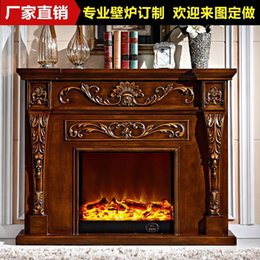 Wholesale New Listing wood fireplace with decorative stoves flame simulation Continental antique fireplaces YY