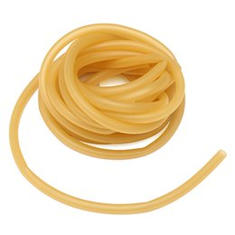 Wholesale 10 Meter x9mm Yellow Natural Latex Replacement Rubber Band Tube for Outdoor Hunting Slingshot Catapult Elasti rubber