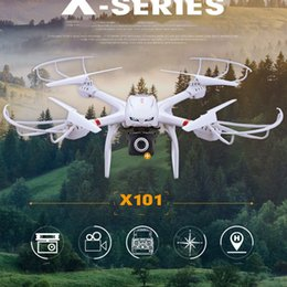 2017 drones de caméras aériennes Professional Drones MJX X101 FPV Wifi 2.4G Caméra 6 Axis Gyro Cène Grand UAV RC Quadcopter Avec Gimbal soutien aérienne Temps réel abordable drones de caméras aériennes